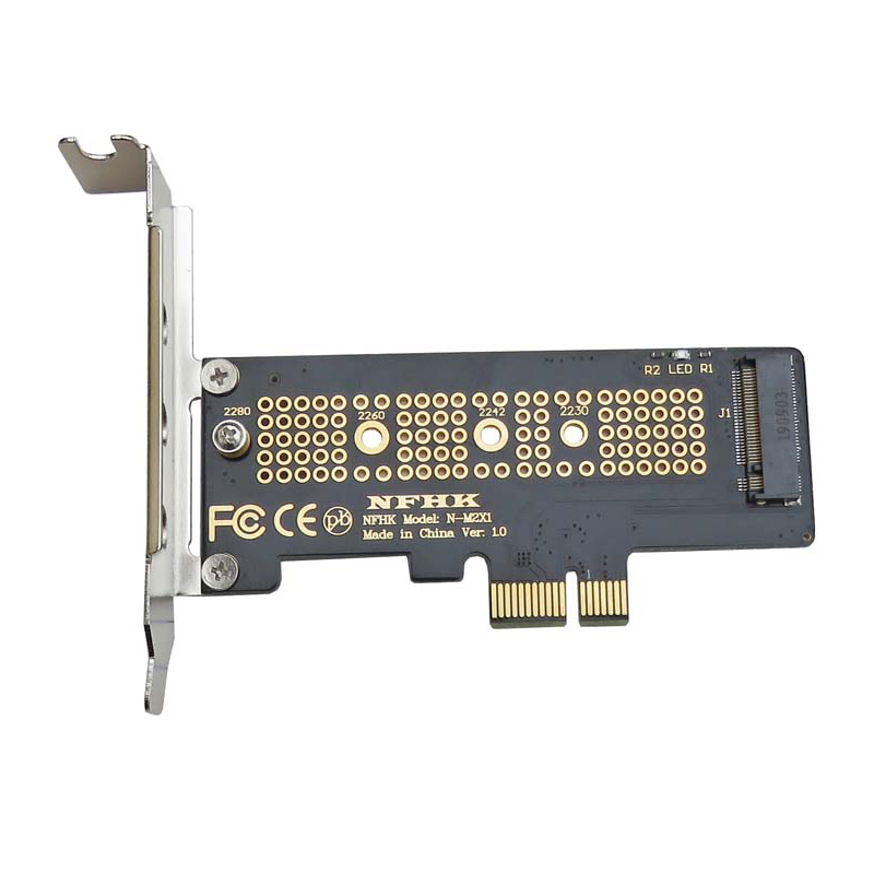 NVMe PCIe M.2 NGFF SSD To PCIe X1 Adapter Card PCIe X1 To M.2 Card With Bracket PCI-E M.2 Adapter For 2230 2240 2260 2280 SSD M2