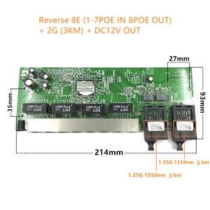 Image 2 - 逆 POE 10/100/1000 1000m ギガビットイーサネットスイッチイーサネット繊維光学シングルモード 8 RJ45 UTP & 2 SC ファイバポートボード SFP3KM