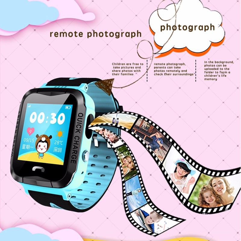 H69c30b5139684b8db2e6894b545d3dd9Q - GPS kids Smart Watch Phone Position Children Watch 1.22 inch Color Touch Screen WIFI SOS Tracker Smart Baby Watch IOS & Android