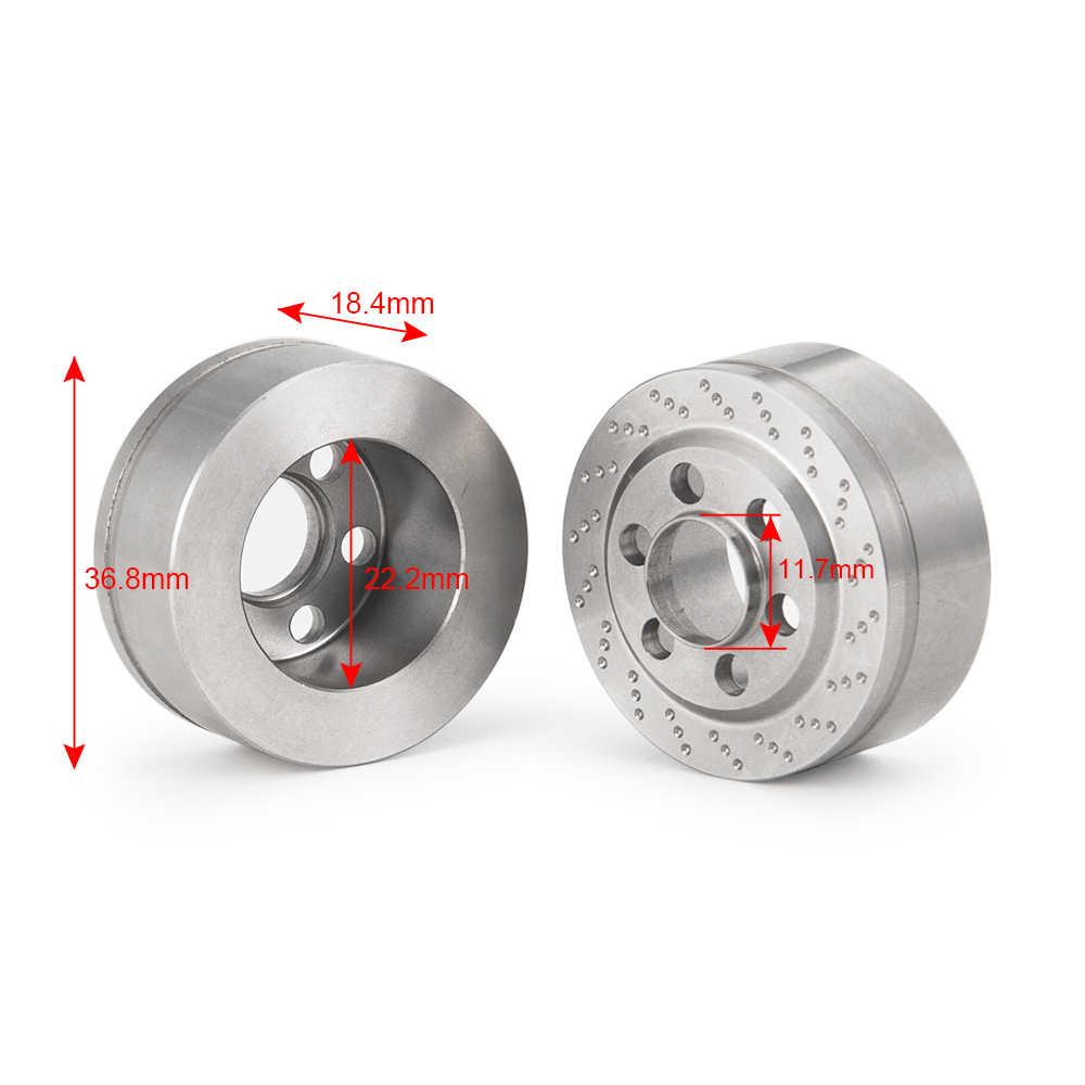 YEAHRUN 2.2 inch Rvs Velgen Contragewicht voor TRX-4 SCX10 1/10 RC Crawler Auto Hub