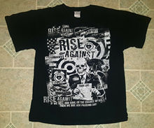riseagainst Dirt Roses Skull Rock Shirt - M - Emo Punk Hardcore NOFX Rancid AFI Men T Shirt Great Quality Funny Man Cotton