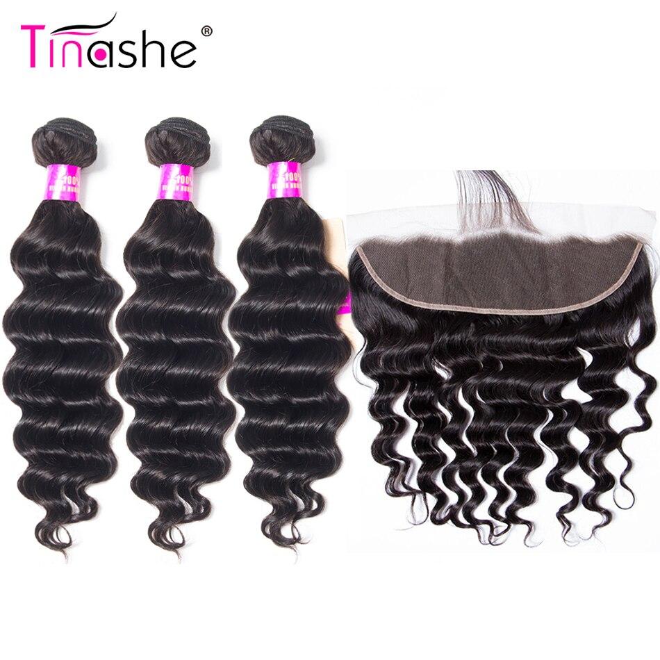 Tinashe Loose Deep Wave Bundles With Frontal Closure Brazilian Hair Weave Bundles With Closure Human Hair Frontal With Bundles