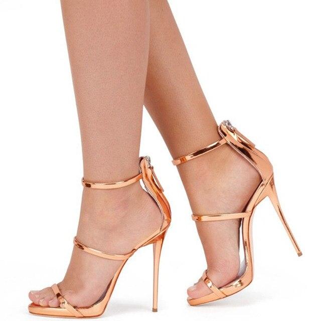 DORATASIA femmes été bout ouvert robe de soirée fermeture éclair talons hauts chaussures à la main sandales décontractées femmes Sexy sandales