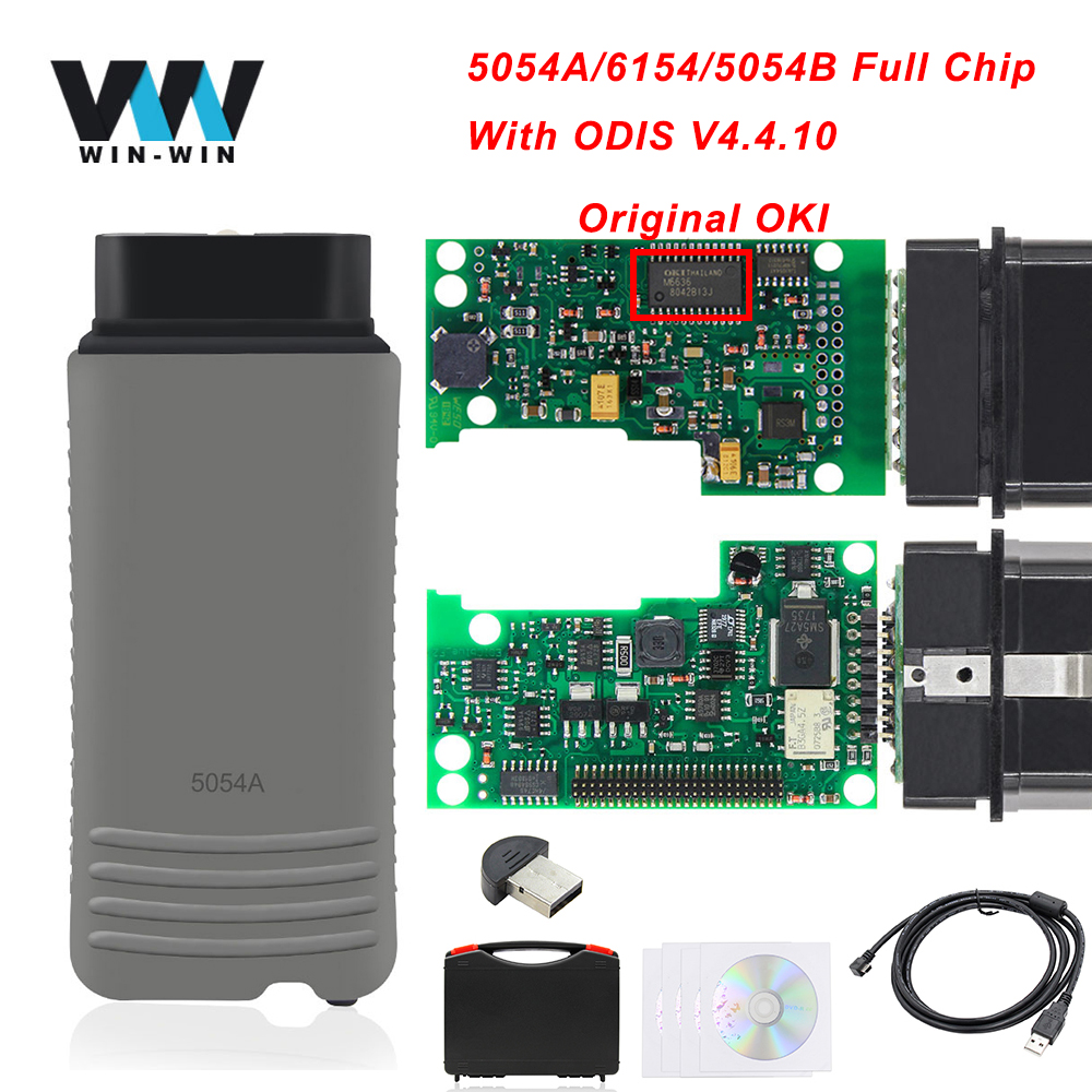 6154 OBD2 Scanner Auto-Tool Car Diagnostic WIFI 5054a Odis Bluetooth Full-Oki-Chip High-Quality title=