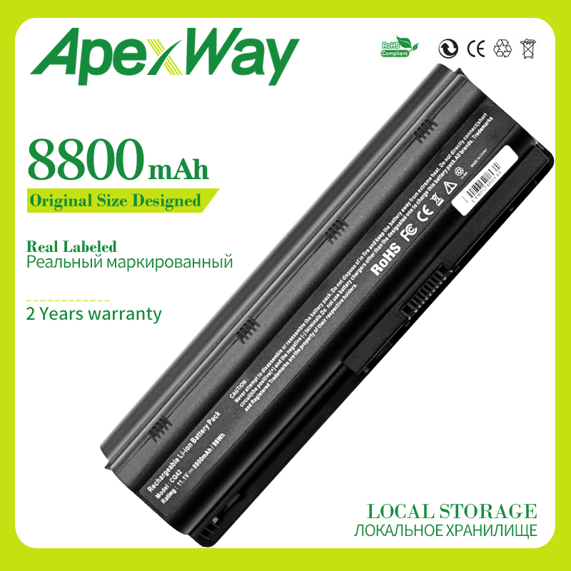 Apexway 12 Cells MU06 Notebook Battery For HP Pavilion G4 G6 G7 DV3 DV5 DV6 DM4 CQ32 CQ42 CQ43 CQ56 CQ62 CQ72  CQ630 593553-001