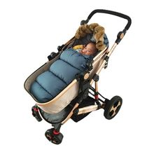 Winter warm sleeping bag newborn baby stroller sleeping bag dual-use blanket baby out autumn and winter thick warm baby supplies