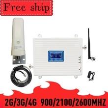 Усилитель сигнала сотового телефона 900/2100/2600 МГц GSM WCDMA LTE 2G 3G 4G 70 дБ усиление 2G 3G 4G LTE 2600 МГц повторитель Усилитель сотового телефона