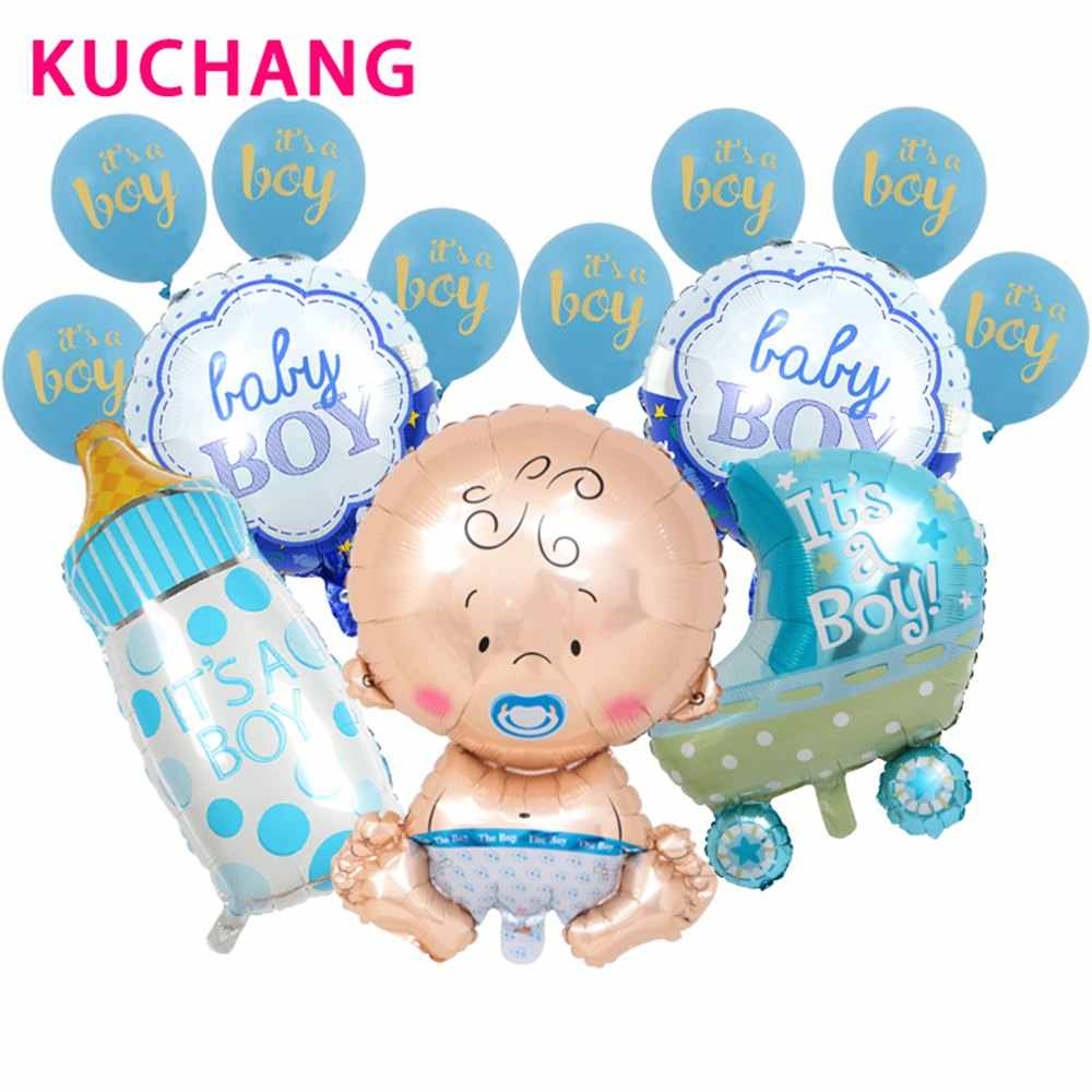 1 zestaw Baby Shower Boy Girl balon foliowy Birthday Party duży sutek Helium Globos to balony lateksowe dekory