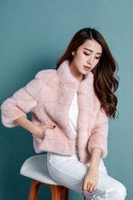 2020 Winter New Fur Imitation Mink Coat Collar Female Turndown
