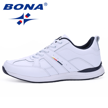 BONA Classics Style Lace Up Running Shoes Men Outdoor Walking Jogging Sneakers Comfortable Athletic Shoes Fast Free Shipping bona new classics style men walking shoes lace up men athletic shoes outdoor jogging sneakers comfortable soft free shipping