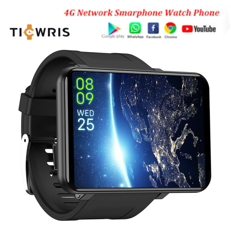 "TICWRIS MAX 4G GPS Smart Watch 3GB 32GB WiFi Bracelet Heart Rate Monitor 2.86"" 2880 MAh Android Quad Core 5MP Camera Wrist Gift"
