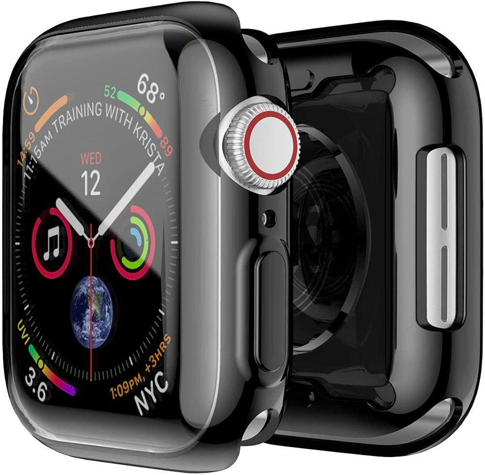 <font><b>Watch</b></font> Cover case For <font><b>Apple</b></font> <font><b>Watch</b></font> <font><b>series</b></font> <font><b>5</b></font> 4 3 2 1 bands 42mm 38mm 40mm <font><b>44mm</b></font> Slim TPU case Protector for iWatch 4 3 42mm 38mm image