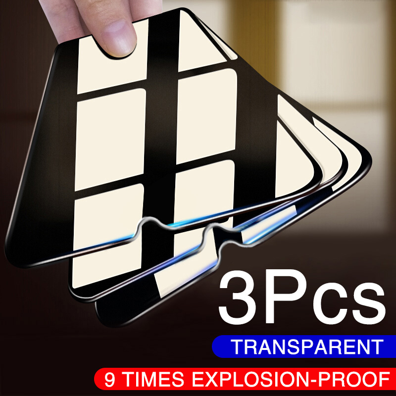 3PCS Full Protective Glass For Xiaomi Redmi Note 8 7 6 5 Pro Note 9 Pro Max Tempered Glass Screen Protector For Redmi 7 8 Film(China)