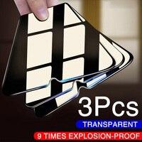 3PCS Completa di Vetro Di Protezione Per Xiaomi Redmi Nota 8 7 6 5 Nota Pro 9 Pro Max Vetro Temperato pellicola di Protezione dello schermo Per Redmi 7 8