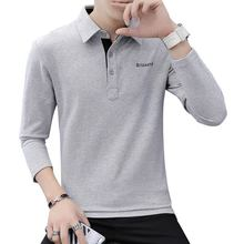 Spring business Tops mens long sleeves 2019 new autumn clothes trendy men slim casual polo shirt lapel fashion