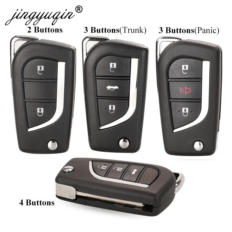 Jinyuqin 2/3 кнопочный раскладной чехол для ключа с дистанционным управлением для Toyota Levin Camry Reiz Highlander Corolla RAV4 чехол для ключа VA2 Toy48 Toy43