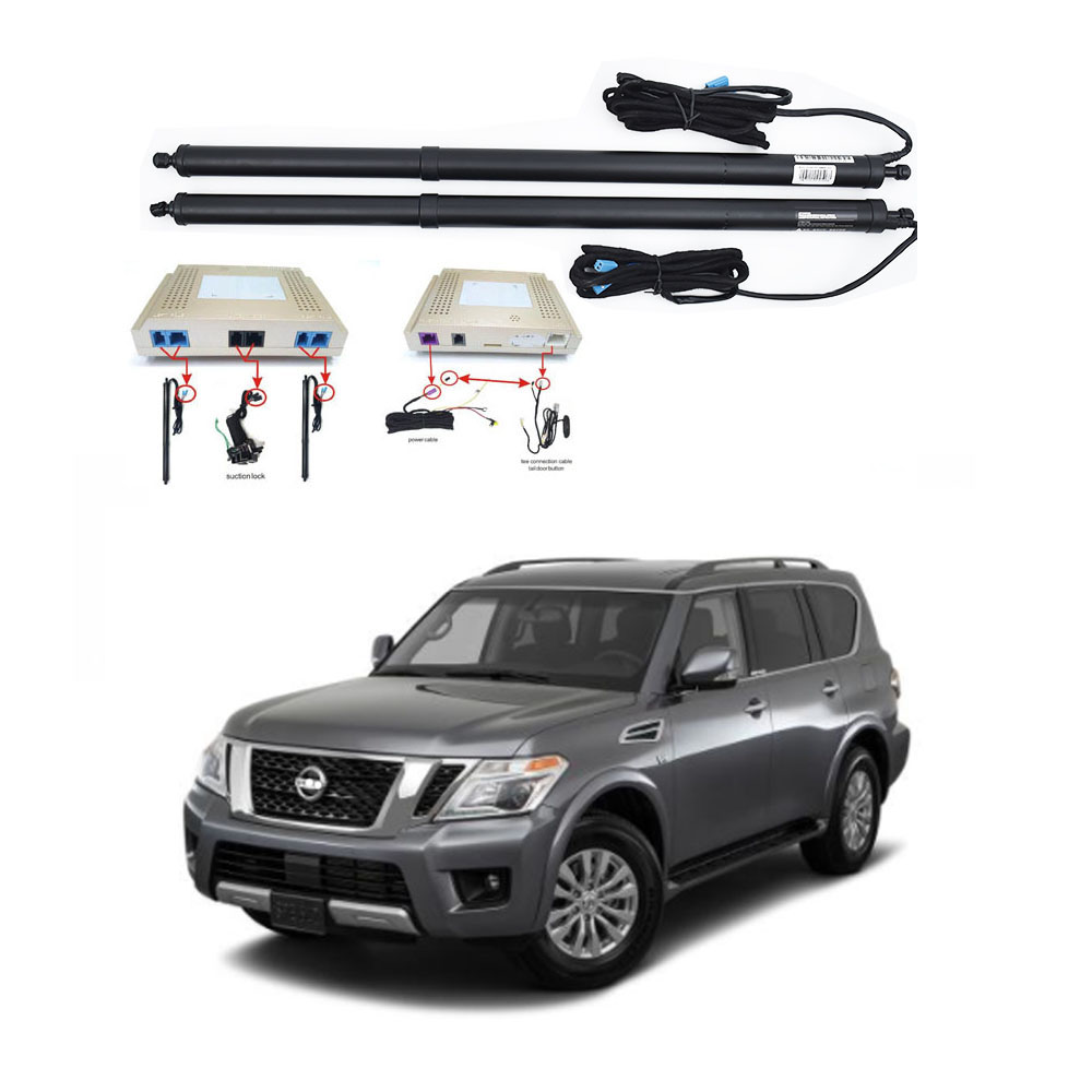 New Electric Tailgate Refitted For NISSAN PATROL Y62 2015-2020 Tail Box Intelligent Electric Tail Door Power Tailgate Lift Lock