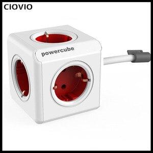 Image 2 - Ciovio Với Dây Nhà Thông Minh Power Cube Ổ Cắm Ciovio Adapter Dán Cường Lực Đa Chuyển Ổ Cắm