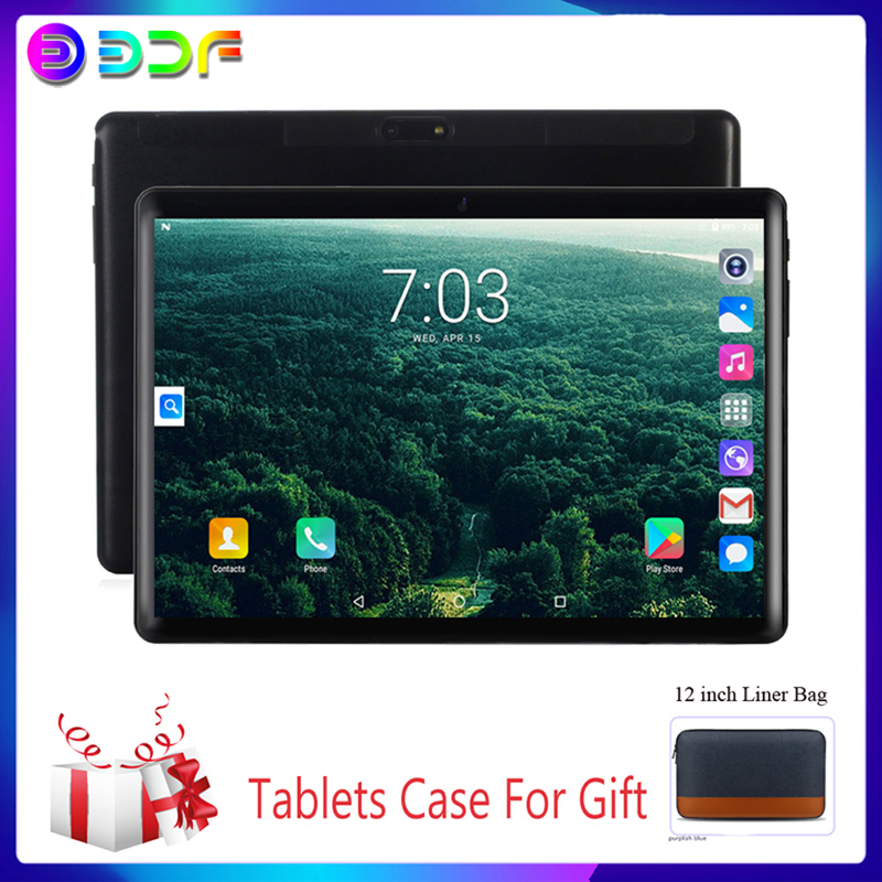 10.1 Inch Tablets Android 7.0 Support Google 3G Phone Call Quad Core 32GB ROM Bluetooth 4.0 Wi-FI 2.5D Steel Screen Tablet PC