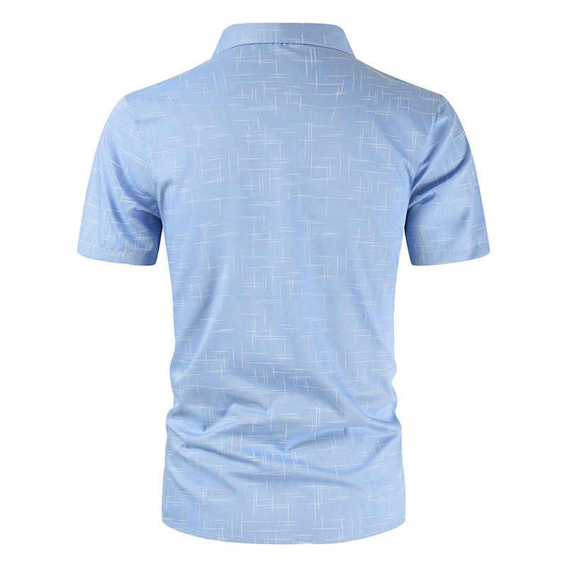 새로운 짧은 소매 턴 다운 남자 셔츠 남자 여름 비즈니스 클래식 셔츠 브랜드 패션 코 튼 단추 옷 Dropshipping
