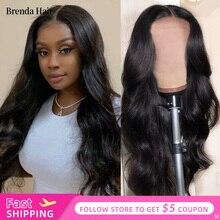 Бренда волос 13x4/скорости 13x6 тело волна кружева перед парик натуральных волос парики человеческих бразильский предварительно перебирают