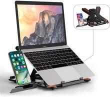 "Laptop Stand TopMate Portable Laptop Riser 360° Swivel Base Adjustable Eye-Level Ergonomic Design for Laptop Within 17"" dj стойка magma laptop stand riser silver"