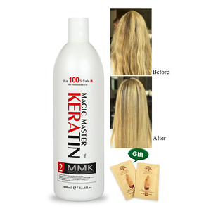 Image 2 - 1000ml Without  Formalin Keratin Fresh Smelling Magic Master Keratin Brazilian Treatment Straighten and Smooth for Damaged Hair