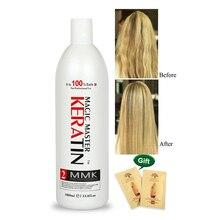 1000ml bez formaliny keratyny świeży zapach Magic Master keratyna brazylijska kuracja wyprostuj i wygładź zniszczone włosy