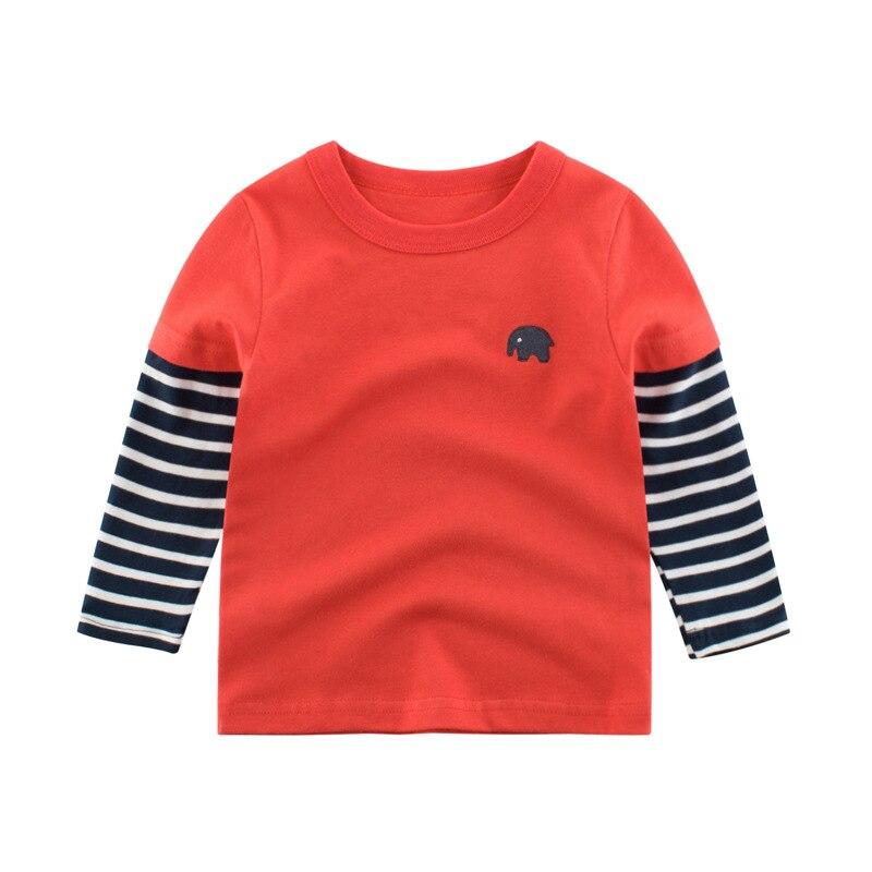 2020 Children Boys Girls Clothes T-shirt Cotton Long Sleeve Elephant Cartoon Tees Tops Kids Baby Boys Bottoming Shirts 27 Kids 6