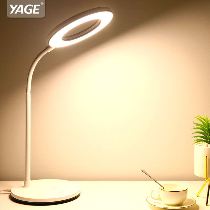 YAGE 1200mAh Rechargeable USB Charging Flexible Book Reading Light Table Lamp Rechargeable Touch Light LED Desk Lamp Dimmable