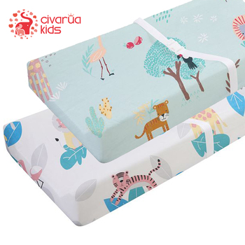 Newborn Baby Fitted Crib Sheet 100% Cotton Soft Breathable Baby Bed Mattress Cover Cartoon Baby Bed sheets For Baby Boys Girls baby bed mattress cover soft protector cartoon printed newborn baby bedding for cot 100% cotton crib fitted sheet size 130 70cm