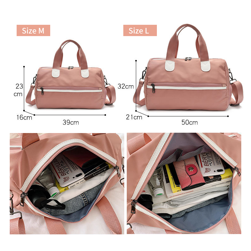 Women Travel Bag For Gym Duffel Luggage Shouder Bag High Quality Waterproof Big Outdoor Traveling Bags With Shoes Pocket XA797WB in Travel Bags from Luggage Bags