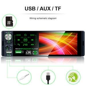 "Image 4 - Podofo 4.1"" Touch Bluetooth Car Radio 1 Din Autoradio Stereo Audio MP5 Video Player USB MP3 TF ISO In dash Multimedia Player"