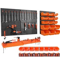 Parede-montado ferramenta de ferragem pendurado placa peças caixa de armazenamento garagem oficina armazenamento rack parafuso chave classificação caso