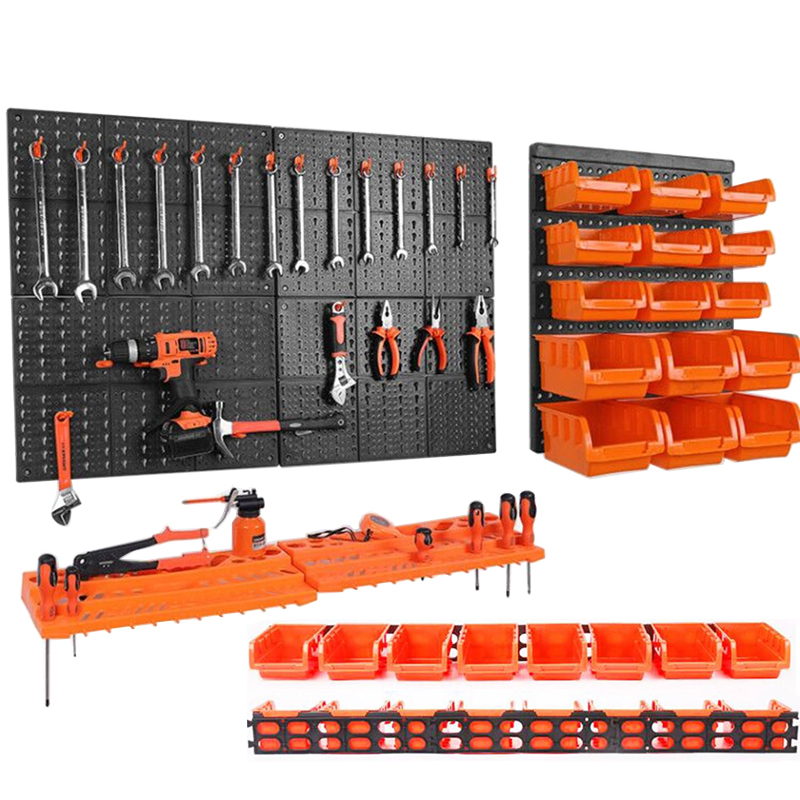 Wall-Mounted Hardware Tool Hanging Board Parts Storage Box Garage Workshop Storage Rack Screw Wrench Classification Case