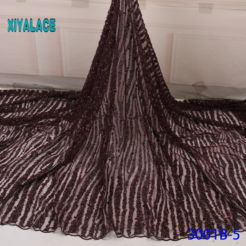 African Lace Fabric 2019 High Quality Lace French Lace Fabric Handmade  Fabric Nigerian Voile Suisse Lace Fabrics YA3001B-5