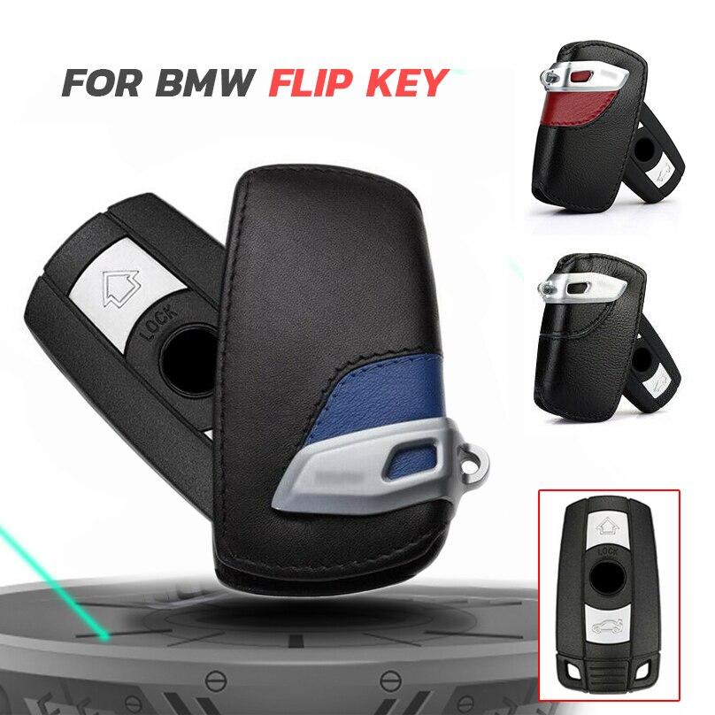 Car Key Case Genuine Leather For Bmw E90 E30 E60 E34 E36 E38 E39 E46 118 220 M235 320 328 428 435 528 X1 X3 Key Holder Bag Cover