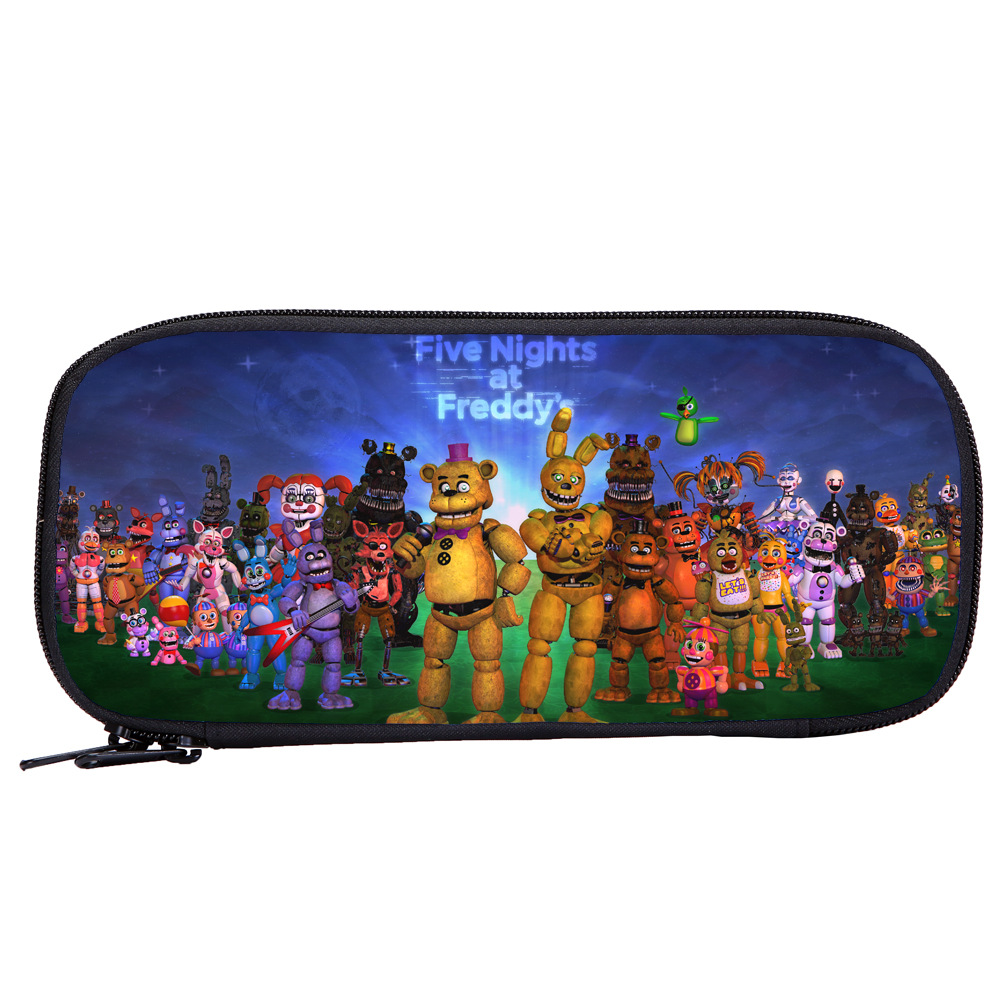 Game Five Nights At Freddy's FNAF Pencil Bag Pen Case Kid School Stationery Multifunction Action Figures Toys Kid Christmas Gift
