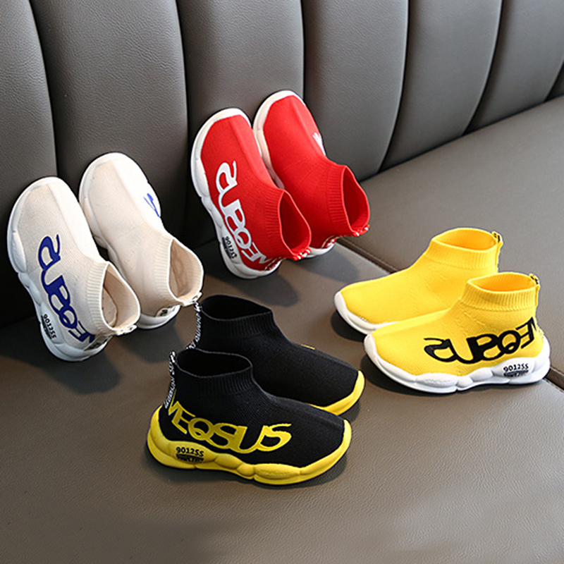 COMFY KIDS Children's Breathable Socks Shoes Boys And Girls Fashion Casual Shoes Fly Woven Mesh Sneakers Baby Shoes