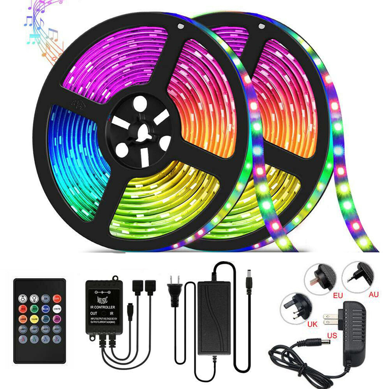 LED Strip Light Music Synchronized Color Changing RGB 5050 LED Light Creat Party Atmosphere Smart Phone and IR Remote Controll