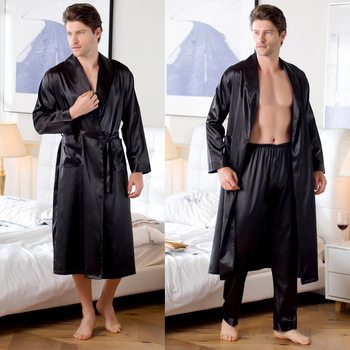 Long Sleeve Robe Sets for Men Multi Colors M-3xl Sizes Kimono Men Home Clothes Cardigan Bath Robe Mens Robes Long Bathrobe