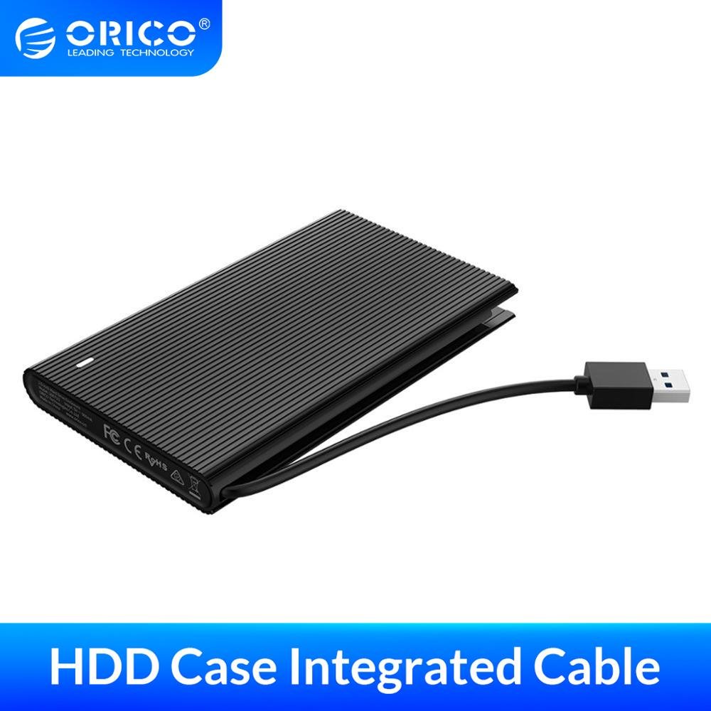 ORICO 2.5 inch HDD Case SATA to USB 3.0 Hard Drive Enclosure With Integrated Data Cable Support 4TB External HDD SSD Enclosure