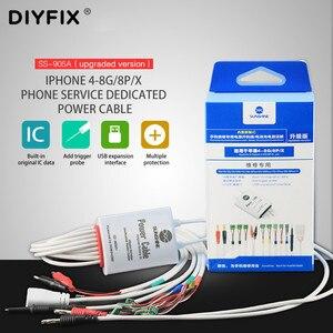 Image 3 - שמש SS 905A עבור iPhone 4 8G/8 P/X סוללה אספקת חשמל אתחול הפעלת מבחן קו IC נתונים כבל חשמל לוח האם תיקון קו