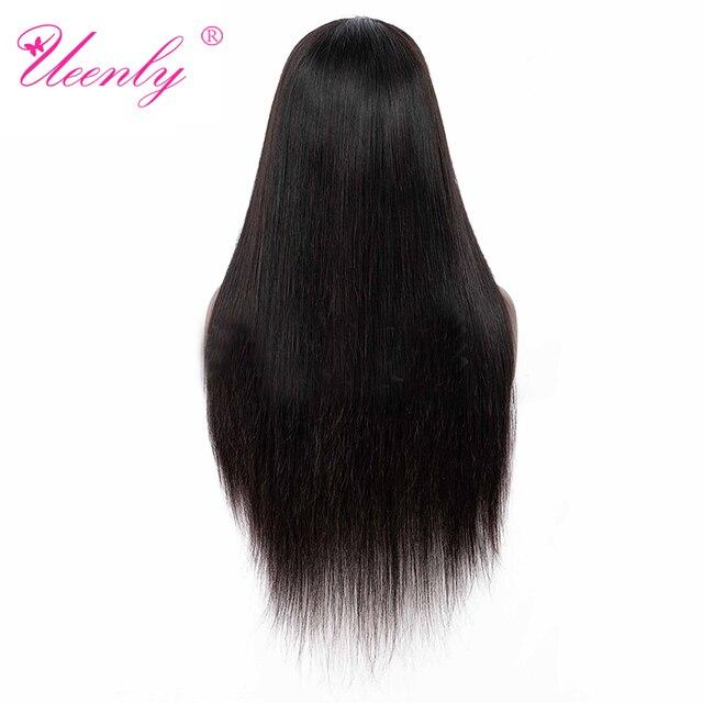 UEENLY 13x 4/13x6 koronki przodu włosów ludzkich peruk brazylijski proste włosy ludzkie peruki 360 koronki przodu peruka wstępnie oskubane z dzieckiem włosy