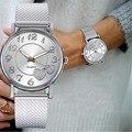 Luxus Frauen Uhren Die Neueste Top Mode Damen Mesh Gürtel Uhr Wilden Dame Kreative Mode Geschenk Zegarek Damski Feminino