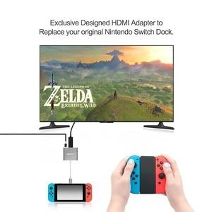 Image 4 - Rocketek xách tay Dock USB C Type C đến HDMI Hub Chuyển đổi 4K HD Chuyển cho Nintend Chuyển NS / Samsung S8 / Mac Pro