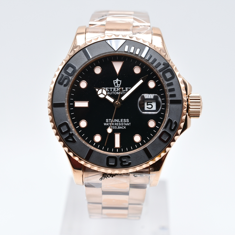 PETER LEE brand luxury daydate mechanical automatic men watches dropshipping classic ceramic bezel stainless steel gold PETER LEE Nautilus | Watch Shop Near Me | brand luxury daydate 40mm mechanical automatic men watches classic ceramic bezel stainless steel gold watch