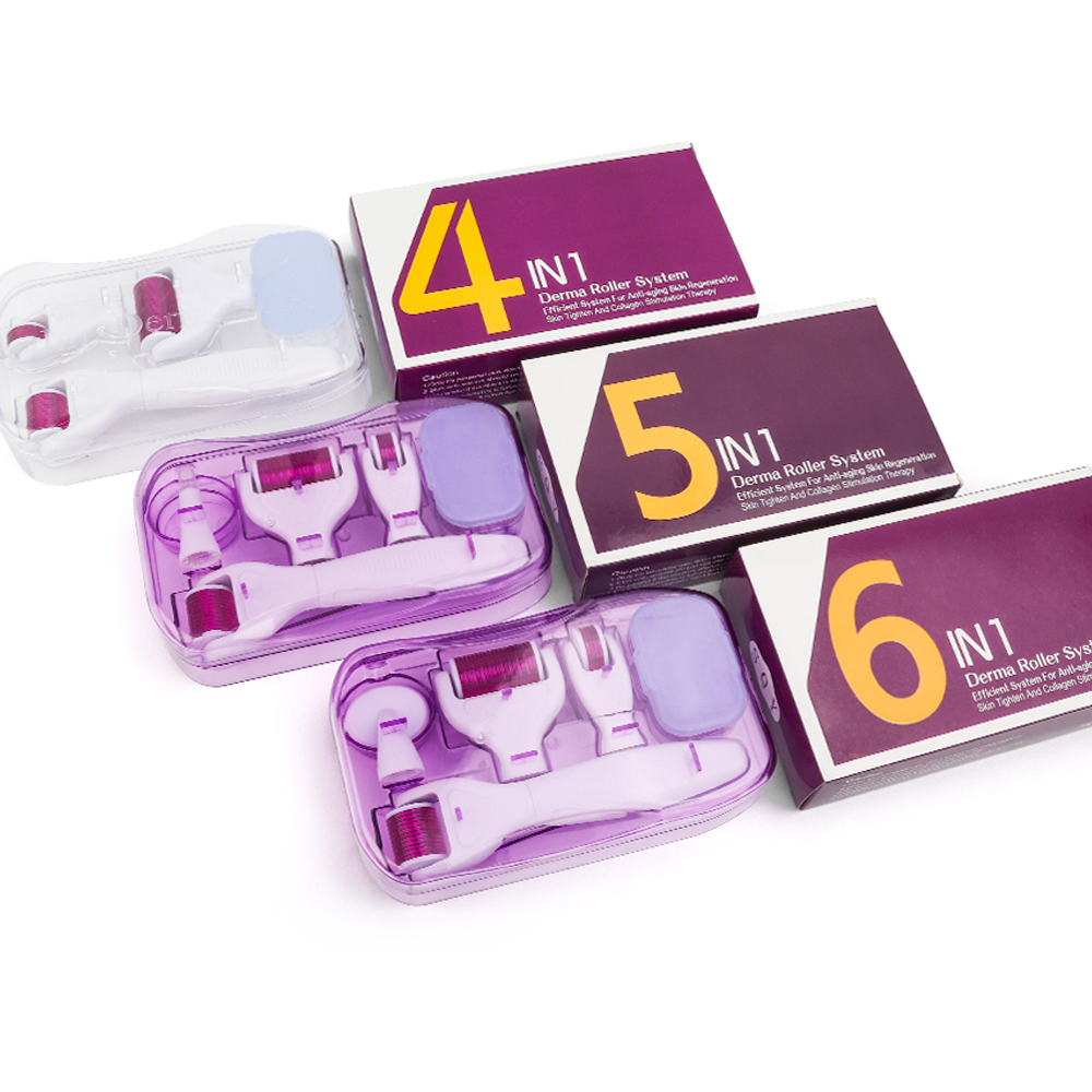 Original DRS 6 In 1 Derma Roller Needle 0.25 0.3 Mm Microdermabrasion Facial Roller Microneedle Kits For Skin Care Rejuvenation