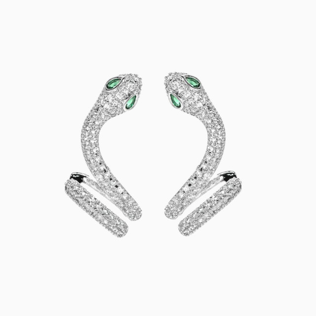 Statement Micro Pave Zircon Stud Earrings For Women Personality Statement Chic Snake Shinning Rhinestone Earrings Ear.jpg 640x640 - Statement Micro Pave Zircon Stud Earrings For Women Personality Statement Chic Snake Shinning Rhinestone Earrings Ear Cuff