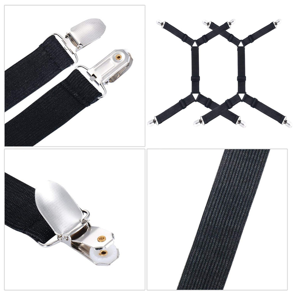Fixing Clip Bed Sheet Clips 4 Corners 2Pcs Set Non Slip Adjustable Mattress Blankets Suspenders Straps Convenient Practical in Buckles Hooks from Home Garden